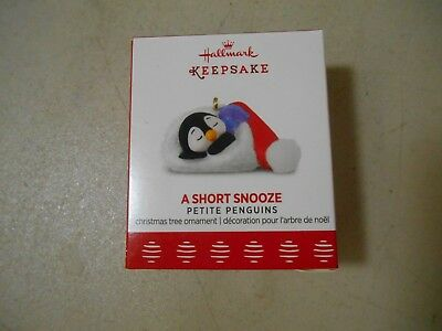 2017 Hallmark Keepsake Miniature Ornament A Short Snooze Petite Penguins NIB