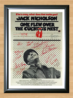 One Flew Over The Cuckoo's Nest Signed Autographed A4 Poster Photo Memorabilia
