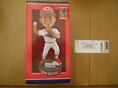 Cincinnati Reds Hall of Fame Ron Oester Bobblehead with Hall of Fame Ticket