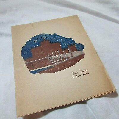 1944 WWII Christmas Card from US Soldier in Italy, Buon Natale, Italia, Ephemera