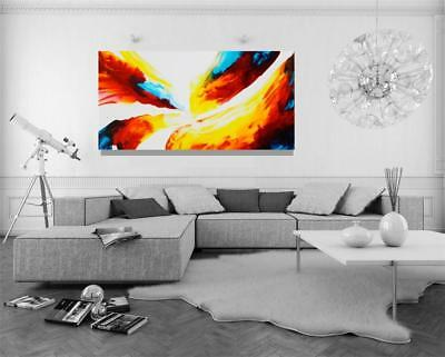 Large Original Painting Colorful Fine Art Canvas Abstract Tara Baden Signed Art