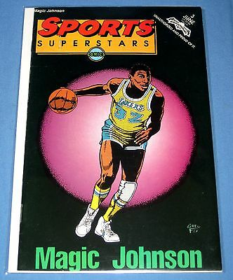Magic Johnson Sports Superstars #3 1992 Revolutionary Comics Excellent Condition