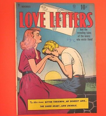 LOVE LETTERS No. 1 Nov. 1949  VF Golden Age Cover by Ward - inside, Gustavson