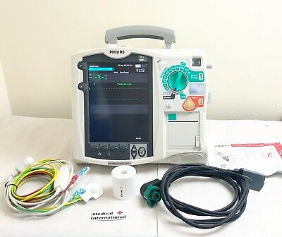 Philips Mrx Heartstart Aed Defib + Pacer + 3 Lead Ecg Cable 03/2021 New Pads