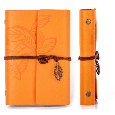 Vintage Diary Notebook String Leaf Leather Paper Journal Book Sketchbook Travel