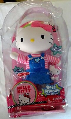"""HELLO KITTY Sanrio Large 13"""" Poseable Dressable BEST FRIENDS Doll +mini doll new"""