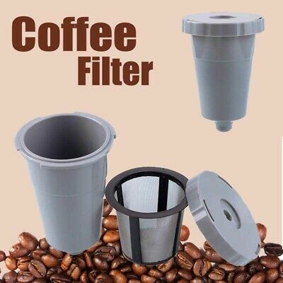 Reusable Replacement For K-Cups Keurig Coffee Filter Mesh Set Combo Refill Kit