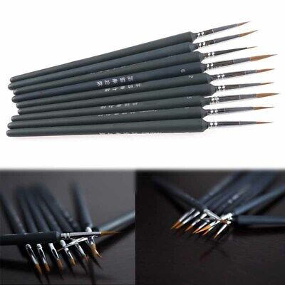 9Pcs Brush Pen For Sketched Lines Gouache Watercolor Paint Oil Painting Craft