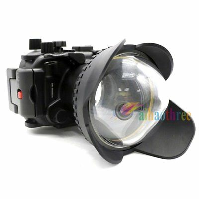 Meikon 40m Waterproof Housing Case + Fisheye Dome Port For Canon G7XII 24-100mm