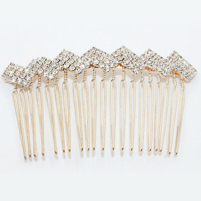 Wedding women hair bride Accessories Gold Hair Comb piece Clip Pin Bridal zigzag