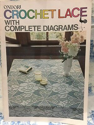 ONDORI CROCHET LACE - Complete Diagrams Pattern Book - BEDSPREAD LACE CUSHIONS