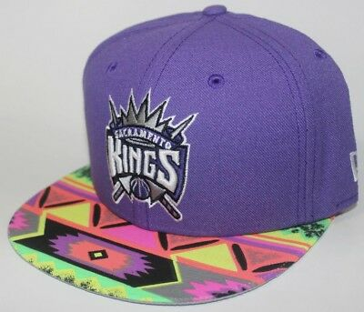 sports shoes 2ffc5 ca807 Sacramento Kings Native Brim 9FIFTY New Era SnapBack Neon Lime   Volt    Infrared