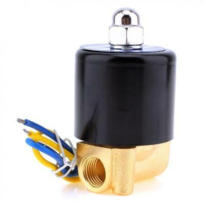 """DC 12V 1/4"""" Inch Brass Electric Solenoid Valve For Water Air Gas Normally Closed"""