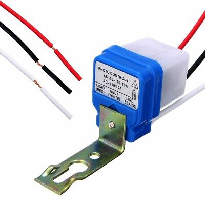 Automatic Auto On Off Street Light Switch Photo Control Sensor Kit For AC110V