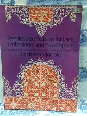 Renaissance Patterns for Lace, Embroidery and Needlepoint By Federico Vinciolo