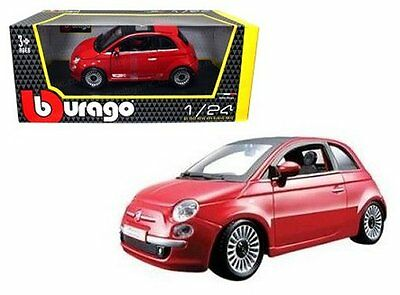 Bburago 1:24 W/b 2007 Fiat 500 Diecast Car Model Red 18-22106 Rd