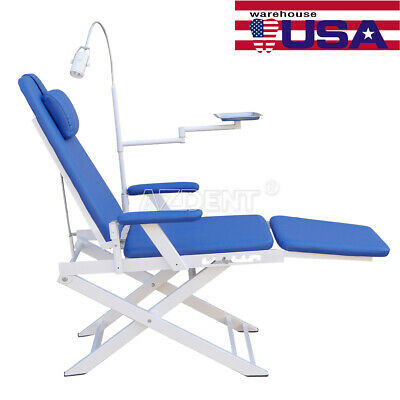 US Stock Portable Dental Simple Folding Chair + Rechargeable LED Light