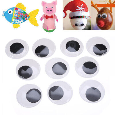 10Pcs 50mm Big Black Wiggle Wobbly Giant Googly Eyes Foy DIY Scrapbooking Tool