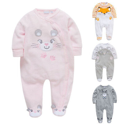 Lively Newborn Baby Kids Boy Girl Pop Cotton Romper Jumpsuit Bodysuit Outfit Set