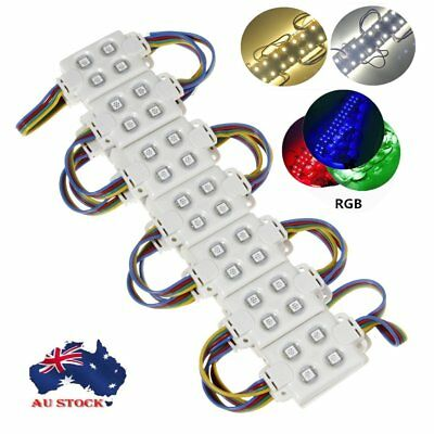 Cool/Warm White RGB 5050 5533 DC 12V SMD 4 LED Module Waterproof Light 4 LED