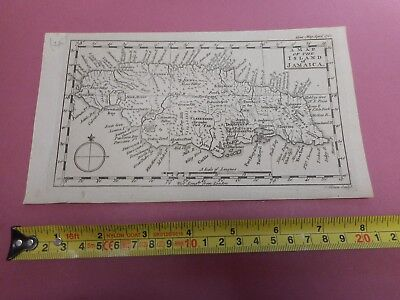 100% Original Island Of Jamaica Map By J Gibson C1762  West Indies