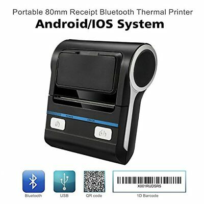 Thermal Receipt POS Small Printer 80mm Bluetooth Compatible 2DAY SHIP