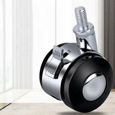 2 Inches Hardware Caster With Brake Zinc Alloy Cabinet Swivel Wheels Universal