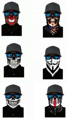 Skull Biker Neck Tube Bandana Scarf Face/Neck Warmer Mask Snood Wrap Balaclava
