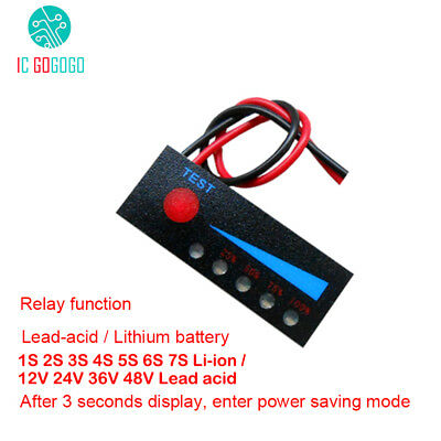 1S 2S 3S 4S 5S 48V Lipo Li-ion Battery Capacity Indicator Level Tester Lead acid