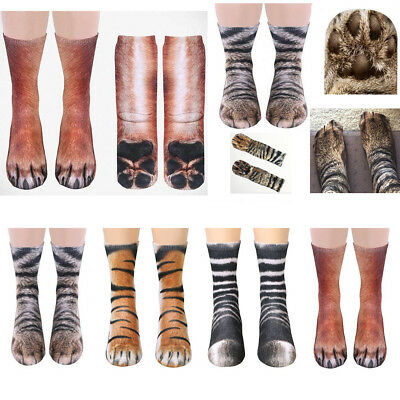 Adult Kids 3D Sublimated Printed Lively Animal Paw Hoof Cotton Stretchy Socks UK