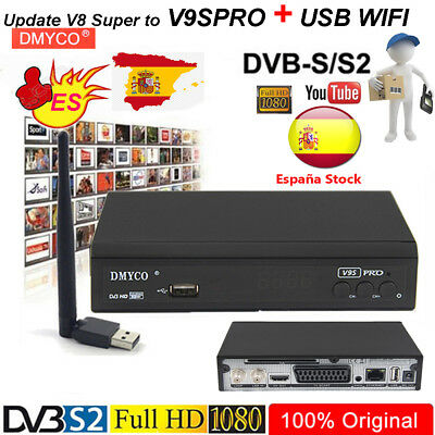 Update V8Super to V9SPRO FTA Satellite TV Receiver Digital Full HD 1080P+usbwifi