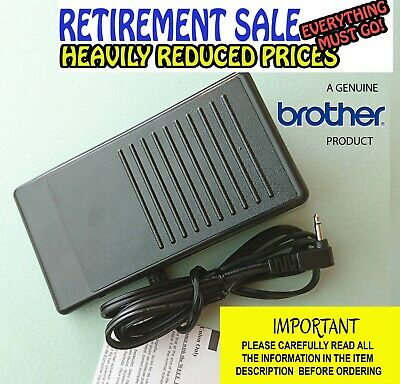 Genuine Brother Foot Control/Pedal For Super Ace, Many Innovis, Cs, Nx, Pc, Etc