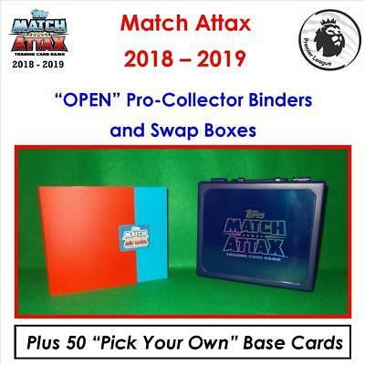 "Match Attax 2018 - 2019 / 18 - 19: ""OPEN"" Pro-Collectors Binders & Swap Boxes"