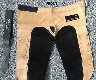 **Annual Clearance** Farrier Apron Full Suede Leather Chaps