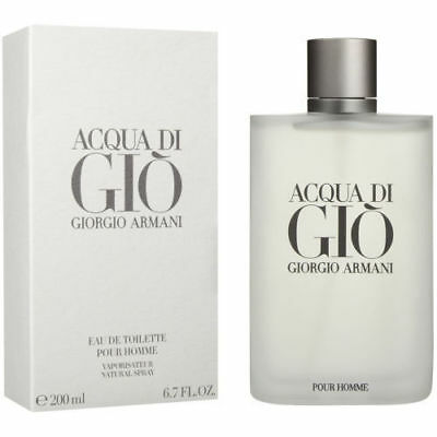Acqua Di Gio By Giorgio Armani For Men 6.7Oz/200Ml** New Bottle**