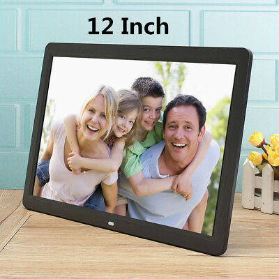 """12"""" Digital HD Photo Frame LED Electronic Picture Photography Player MP4 AU"""
