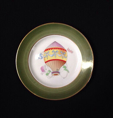 """I. Godinger Email De Limoges MARINO Hand Decorated Hot Air Balloon Plate 7-3/4"""""""
