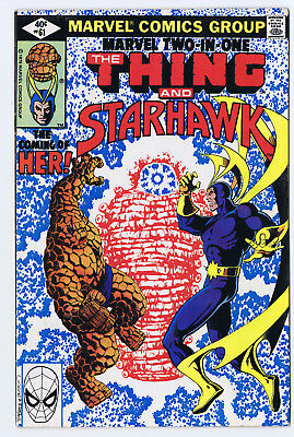 Marvel Two in One 61 FN/VF   direct and newsstand version - both copies 1st Her