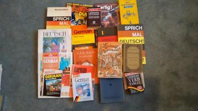 German Language Learning, Large Collection Books Tapes