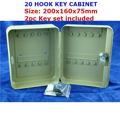 20 Key Security Wall Mounted Hook Cabinet Safe Box Secure Lock Car Storage Case