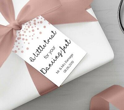0f161eab251d09 Personalised A Little Treat for your Dancing Feet Gift Tags Rose Gold Effect