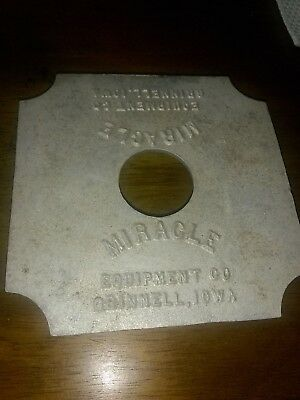 Miracle Equipment Co Grinnell Iowa Metal Advertising Advertisment