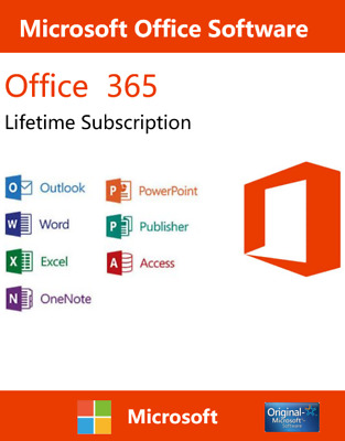 Microsoft Office 365 Office 2016 Lifetime Account For 5 Devices 5TB Onedrive