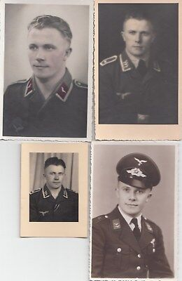 Original -4 x  Porträt  Foto - Luftwaffe -1941 - Paris - Amsterdam Top
