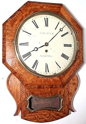 Antique Early 1800's Huge English Fusee Public Building / Library Wall Clock.