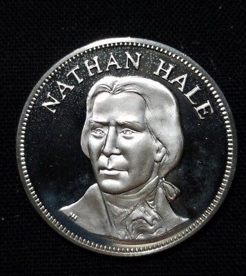 """925 Sterling Silver Nathan Hale Medal    """" We Combine Shipping """""""