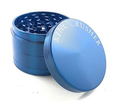 King Crusher Tobacco Herb 4 Piece 2.5 Inch Spice Alloy Smoke Grinder US Seller
