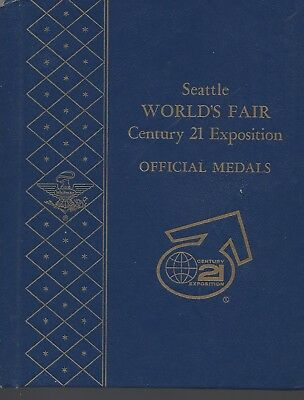 Seattle Worlds FairCentury 21 Exposition  Official Medals Whitman Album