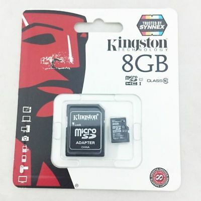 Kingston 8GB Tf Tarjeta de Memoria C10 SDHC Clase 10 Micro Sd + Adaptador