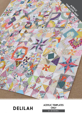 Delilah Jen Kingwell Designs Scrappy Quilt Acrylic Template Set Only